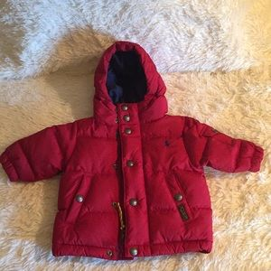 NWT, Ralph Lauren Infant down puffer jacket